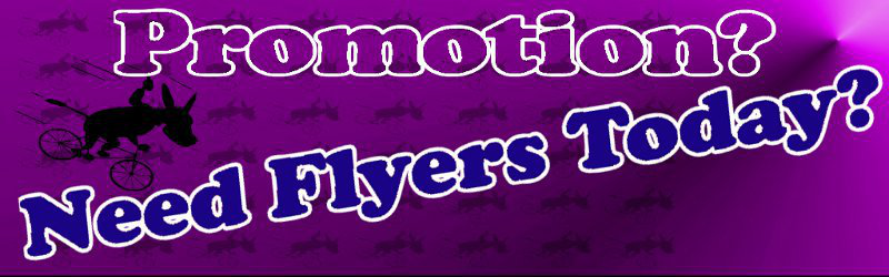 flyers promotion on purple background